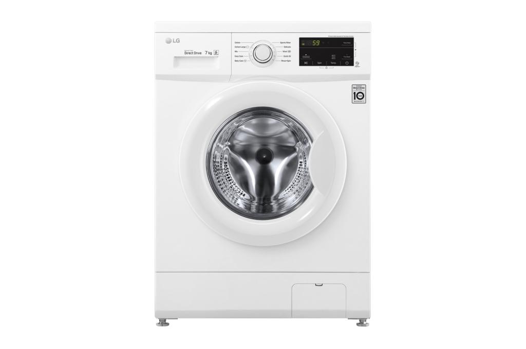 เครื่องซักผ้าฝาหน้า LG รุ่น FM1207N6W ความจุ 7 กก.